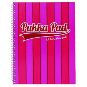 Pukka Pad Vogue Wirebound Jotta Pad A4 Pink (Pack of 3) 8541-VOG