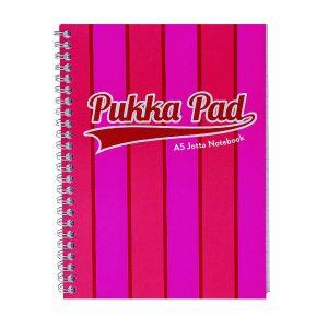 Pukka Pad Vogue Wirebound Jotta Pad A5 Pink (Pack of 3) 8543-VOG