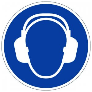DURABLE USE EAR PROTECTION FLOOR SIGN