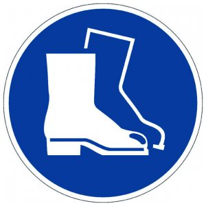 DURABLE USE FOOT PROTECTION FLR SIGN