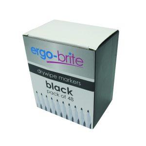 ERGO-BRITE DRYWIPE MARKER R/GRIP BLACK
