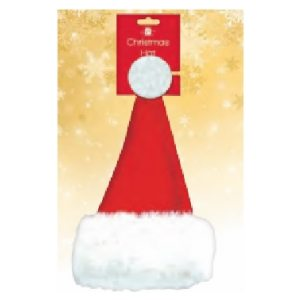 NOVELTY DELUXE SANTA HAT PK24
