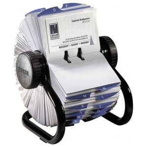ROLODEX BUSINESS FILE BLACK 400CAP 67236