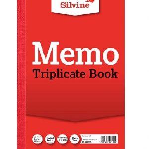 SILVINE TRIPLICATE BOOK