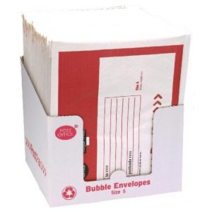 POST OFFICE SIZE 5 BUBBLE ENVELOPE PK22