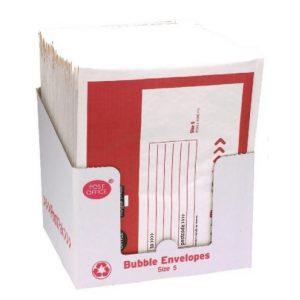 POST OFFICE SIZE 5 BUBBLE ENVELOPE PK22