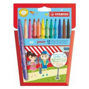 STABILO POWER FELT PENS ASSORTED PK12