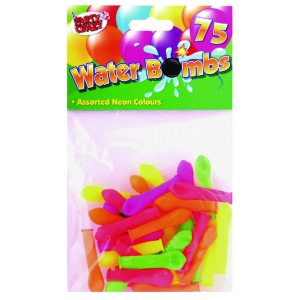 WATER BOMB BALLOON ASSORTED NEON PK75