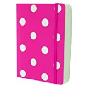 MONOCHROME PINK POLKA A6 NOTEBOOK