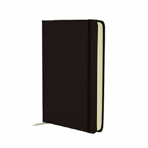 BLACK/CREAM BLOCK MEDIUM NOTEBOOK