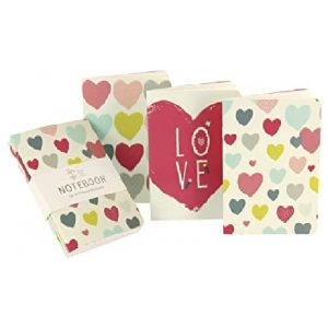 HEARTS POCKET NOTEBOOKS SET OF 3
