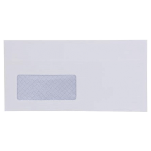 WHITE DL WINDOW ENVELOPE 5 PACK