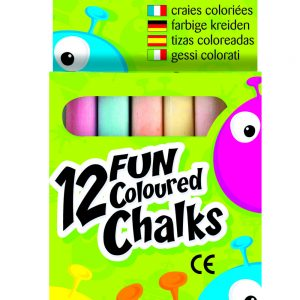 12 FUN COLOURED CHALKS PK20
