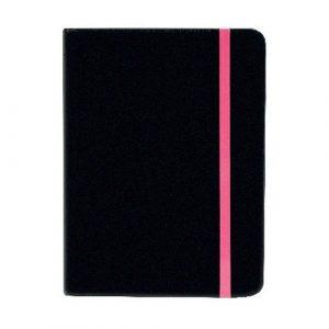 COLOUR BLOCK SMALL NOTEBOOK BLACK/CERISE