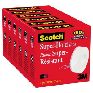 SCOTCH SUPER HOLD TAPE PK6