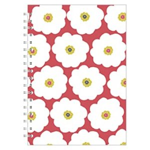 CORAL A4 NOTEBOOK LARGE FLOWER