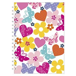 BUTTEFLY DAISY A4 NOTEBOOK WHITE