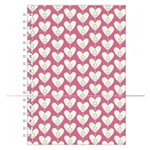 HEARTS PINK A5 NOTEBOOK PINK