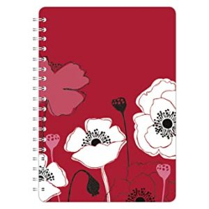 SKETCHED FLORAL A5 NOTEBOOK POPPY