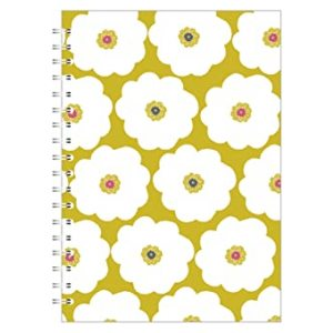 A5 NOTEBOOK LARGE FLOWER LIME