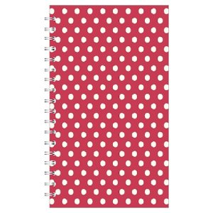 POLKA A5 NOTEBOOK RED