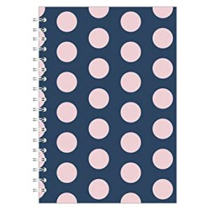 LARGE POLKA A5 NOTEBOOK NAVY