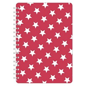 STARS A5 NOTEBOOK RED