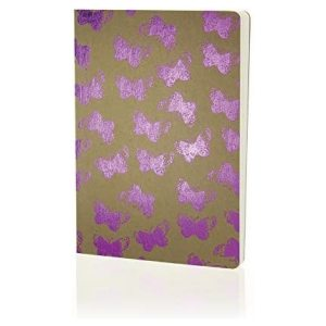 SHIMMER A5 NOTEBOOK PINK BUTTERFLIES