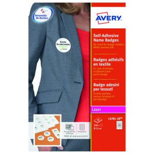AVERY S/A NAME BADGES PK240