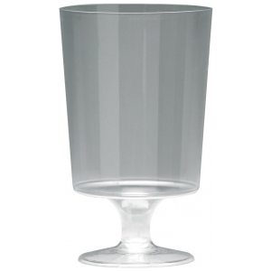 PLASTIC WINE GLASS CLEAR 200ML PK10