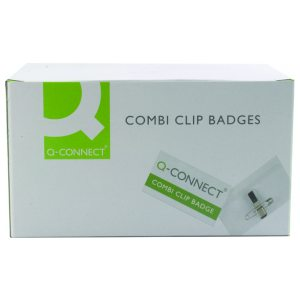 Q CONNECT COMBINATION BADGE 40X75MM PK50