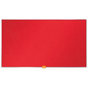 NOBO NOTICE BOARD 31 INCH FELT RED