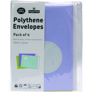 ASSORTED COLOURED POLY BAGS 20 PACKS OF 6