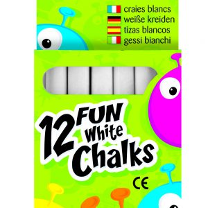12 FUN WHITE CHALKS PK20