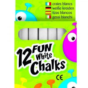 12 FUN WHITE CHALKS PK20