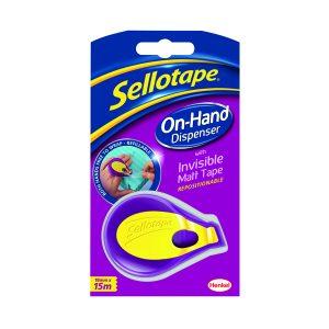 SELLOTAPE ON HAND DISP 18MMX15M