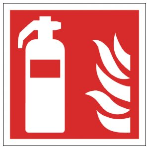 FIRE EXTINGUISHER SELF ADHESIVE SIGN