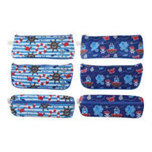 TALLON PENCIL CASES ASSORTED PIRATE 6851