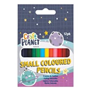 SMALL COLOURED PENCILS 12PCS 6PK