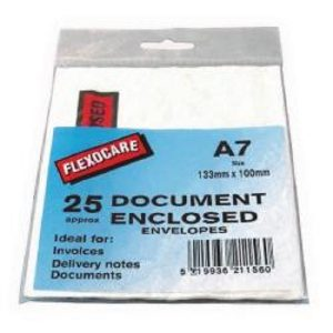 A7 DOCUMENT ENCLOSED ENV PK 25